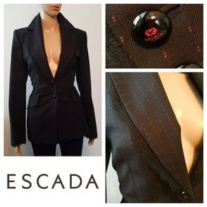 Incredible $2295 ESCADA Lace Trim Blazer Jacket